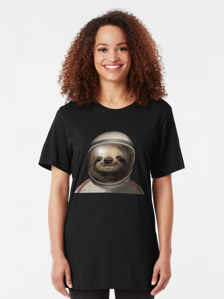 Alternate view of Space Sloth Slim Fit T-Shirt