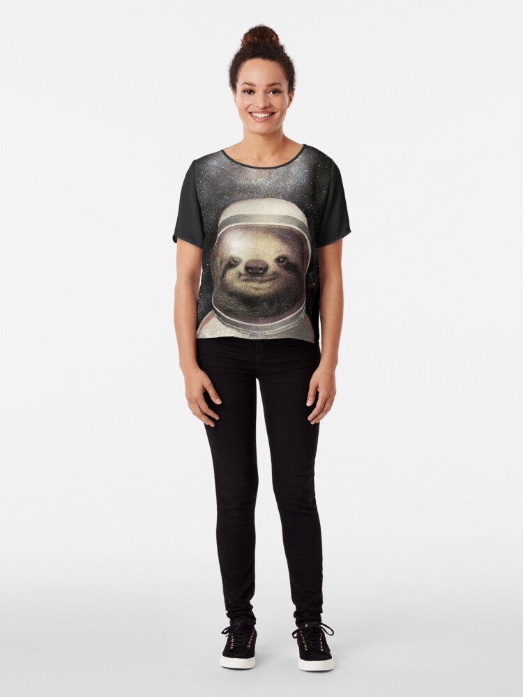 Alternate view of Space Sloth Chiffon Top