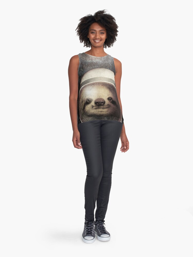 Alternate view of Space Sloth Sleeveless Top