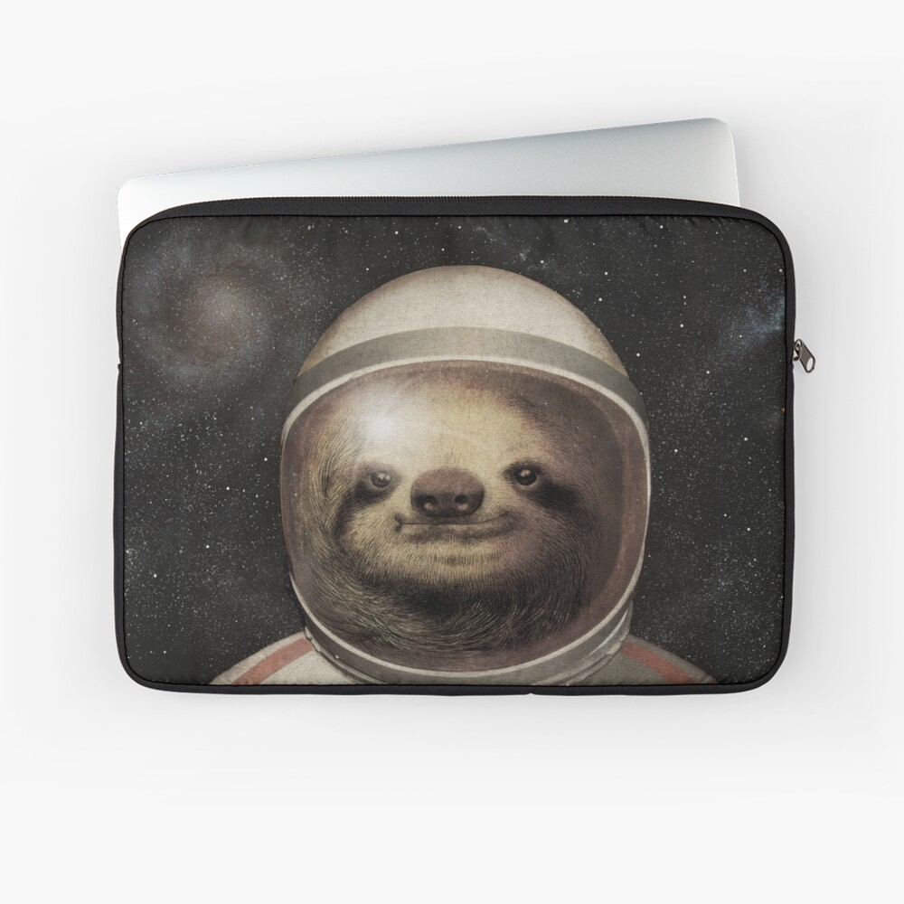 Space Sloth Laptop Sleeve Front