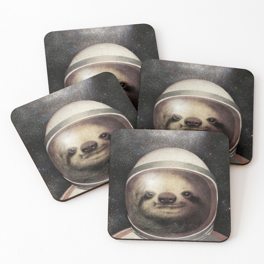 Space Sloth Coasters (Set of 4)