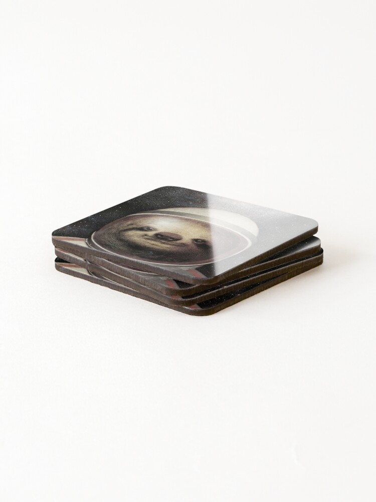 Alternate view of Space Sloth Coasters (Set of 4)