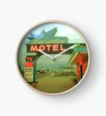 Blue Swallow Clock