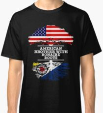 American Brother With Bonaire Roots - Gift For Bonaire Brother From Brother Or Sister Classic T-Shirt