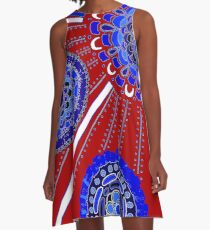 Red, White, and Blue A-Line Dress