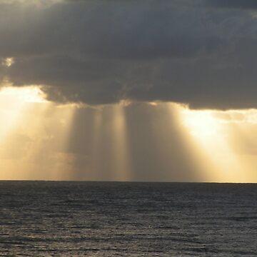 Sunrise in the Storm - Queensland, Australia. by artbyjanelucas