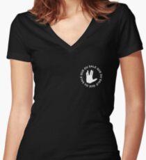 Damso - Que Du Sale Women's Fitted V-Neck T-Shirt