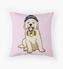 University of Michigan Pup Throw Pillow