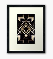 Art deco,vintage,1920 era,The Great Gatsby,gold,black,pattern,elegant,chic,modern,trendy Framed Print