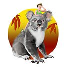 Koala-ity View   Digital Painting by Anthony James Rich