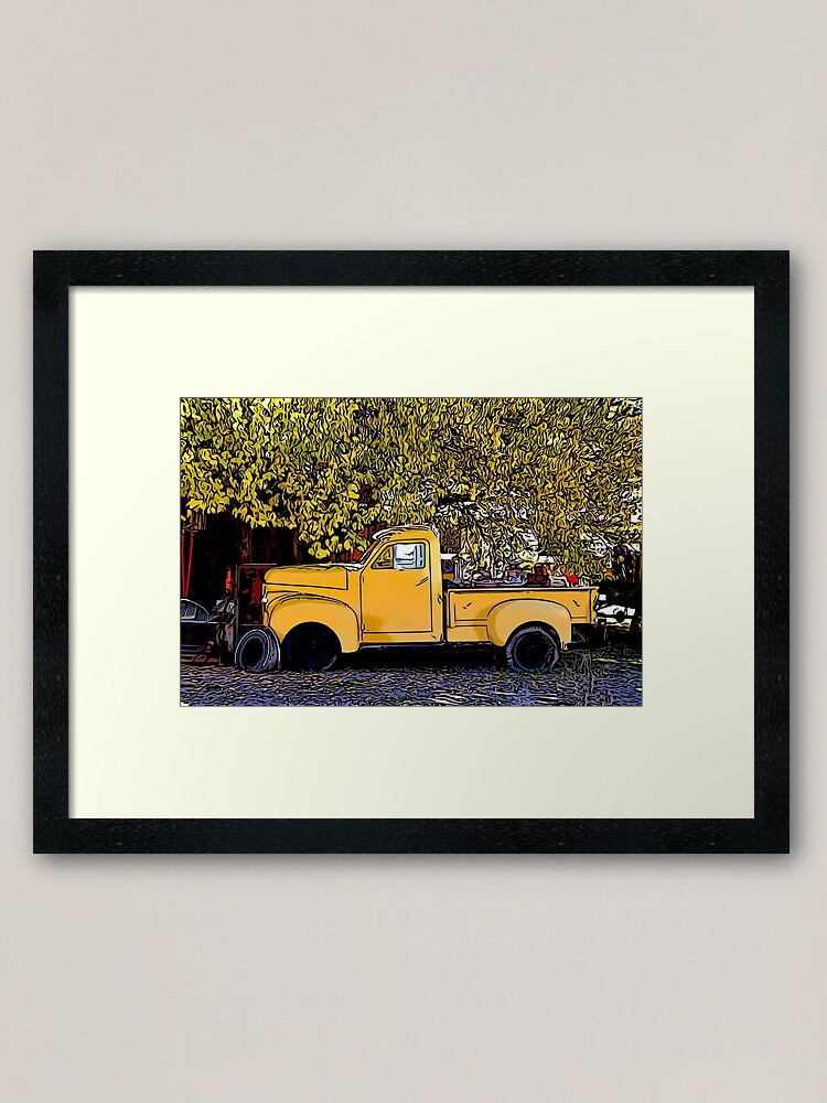 Alternate view of Truck Relic Framed Art Print