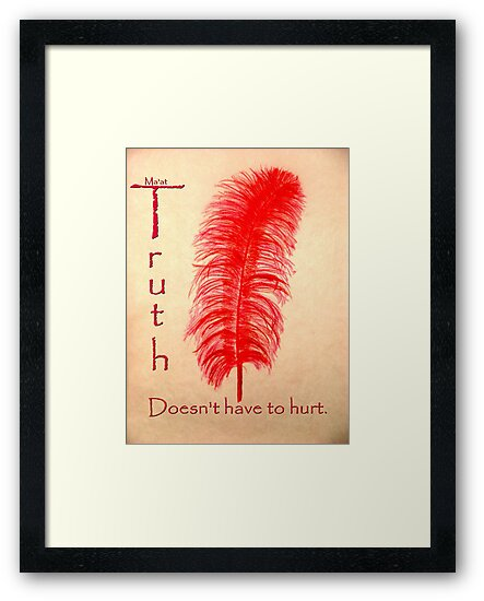 Truth/Ma'at Doesn't Have to Hurt by RoyAllen Hunt