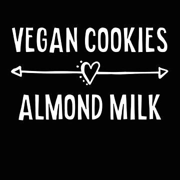 Vegan Cookies and Almond Milk by SpoonKirk