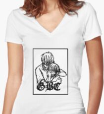Lil Peep GBC Women's Fitted V-Neck T-Shirt