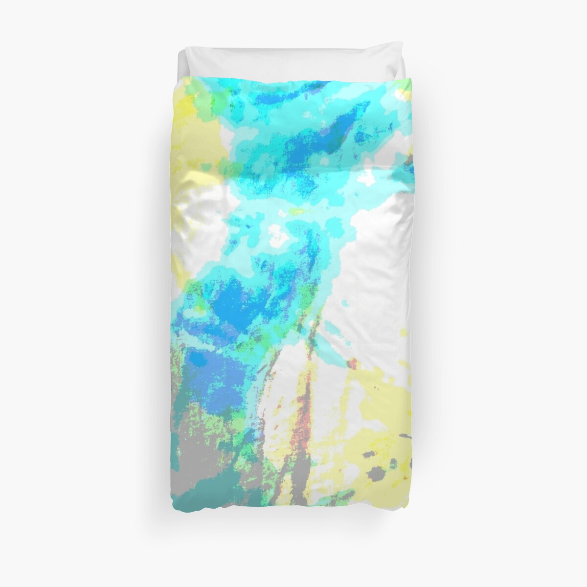tie dye blue yellow aqua by MadmyrtleDesign