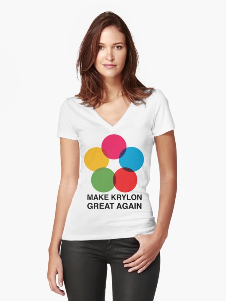 Make Krylon Great Again - Balls Women's Fitted V-Neck T-Shirt Front