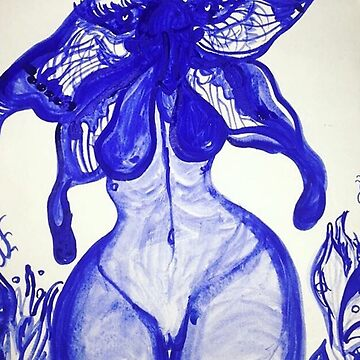 The Blue Changing Woman Painting by gabrielahogg