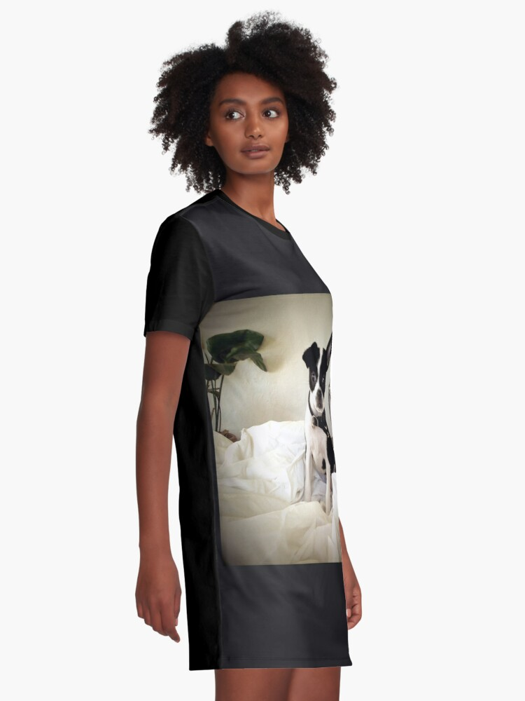 Alternate view of Keep an Ear To the Wind Graphic T-Shirt Dress