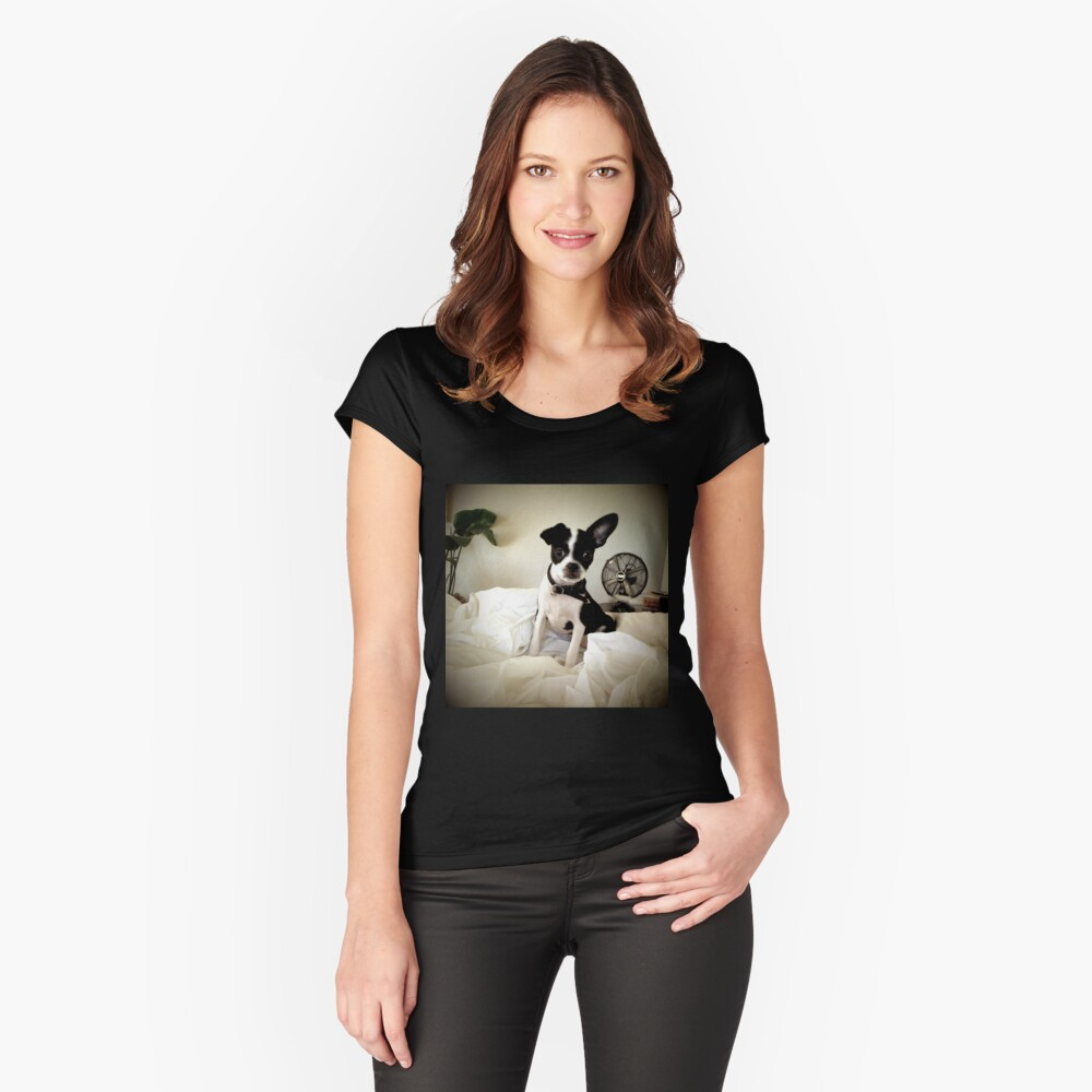 Keep an Ear To the Wind Fitted Scoop T-Shirt