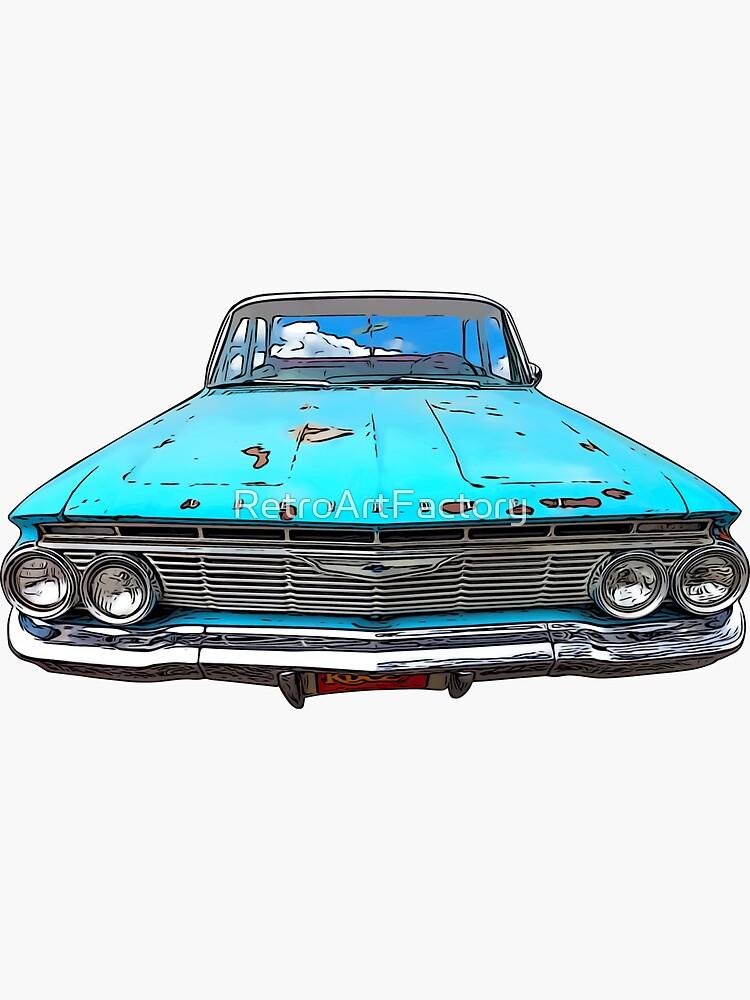 60's Vintage Car by RetroArtFactory
