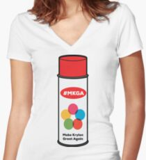 Make Krylon Great Again - Can Women's Fitted V-Neck T-Shirt