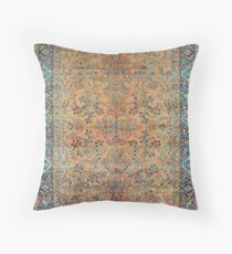Manchester Kashan Floral Persian Carpet Floor Pillow