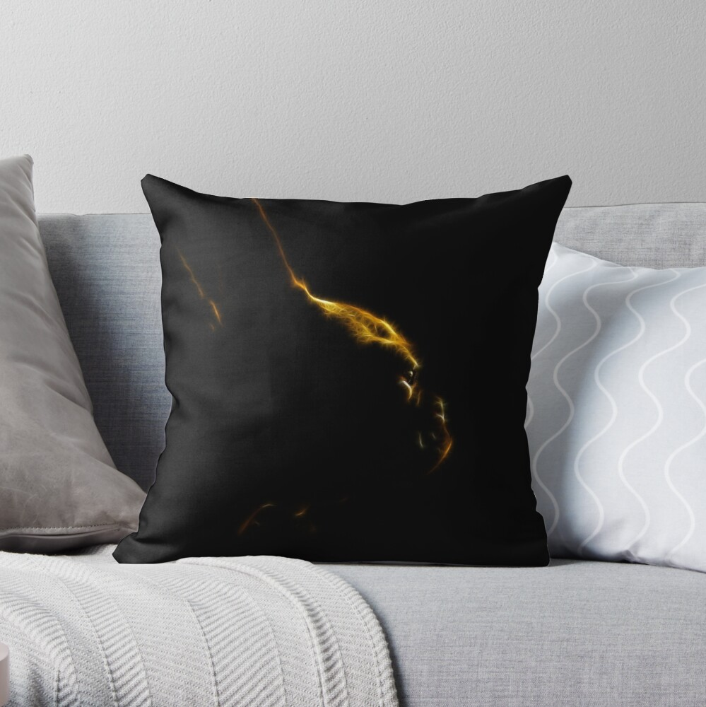 Lost in Thought Revisited Throw Pillow
