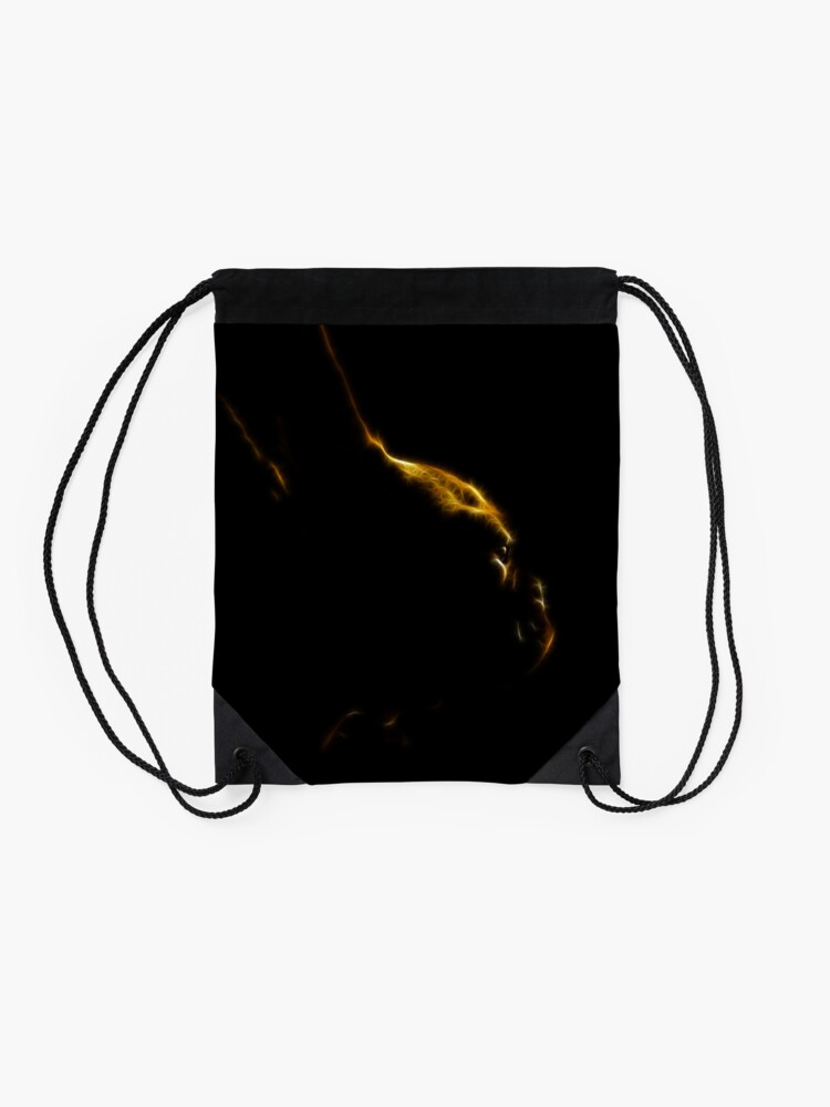Alternate view of Lost in Thought Revisited Drawstring Bag