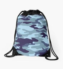 Water Sea Camouflage Drawstring Bag