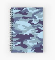 Water Sea Camouflage Spiral Notebook
