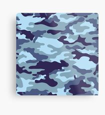 Water Sea Camouflage Metal Print