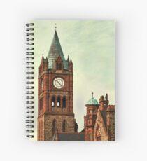 Derry Guildall - clock tower Spiral Notebook