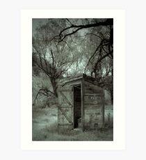 Roadside Outhouse Art Print
