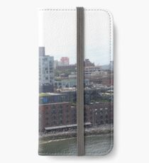 Vintage Warehouse, Modern Architecture, Brooklyn, New York City iPhone Wallet/Case/Skin