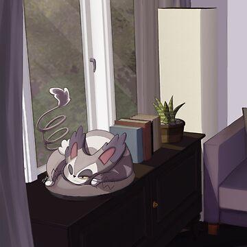 Sleepy Kitty by PokeFuseMe