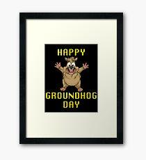 Happy Groundhog Day! Framed Print