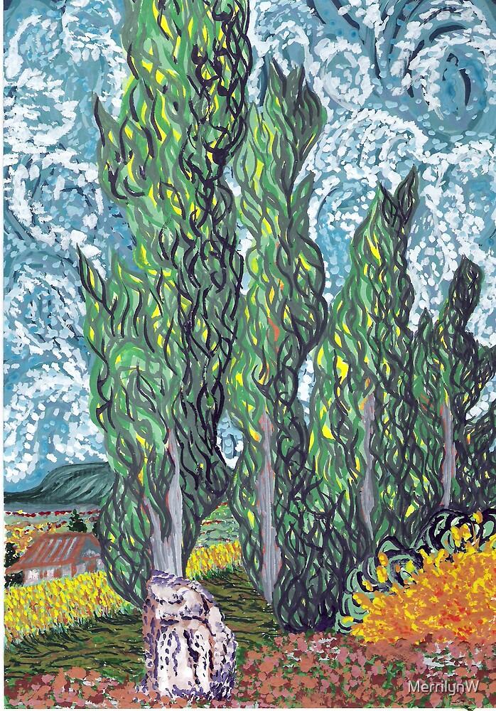 Cypresses by MerrilynW