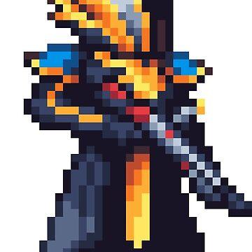 Parade Warlock Pixelart by spykles