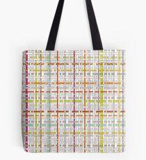 Woven Pen Pattern Tote Bag