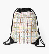 Woven Pen Pattern Drawstring Bag