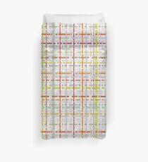 Woven Pen Pattern Duvet Cover