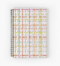 Woven Pen Pattern Spiral Notebook