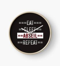 Rock Climbers Gift Eat Sleep Abseil Repeat  Clock