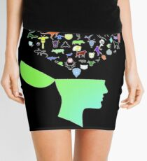 Head & Mind filled with Animal thoughts Mini Skirt