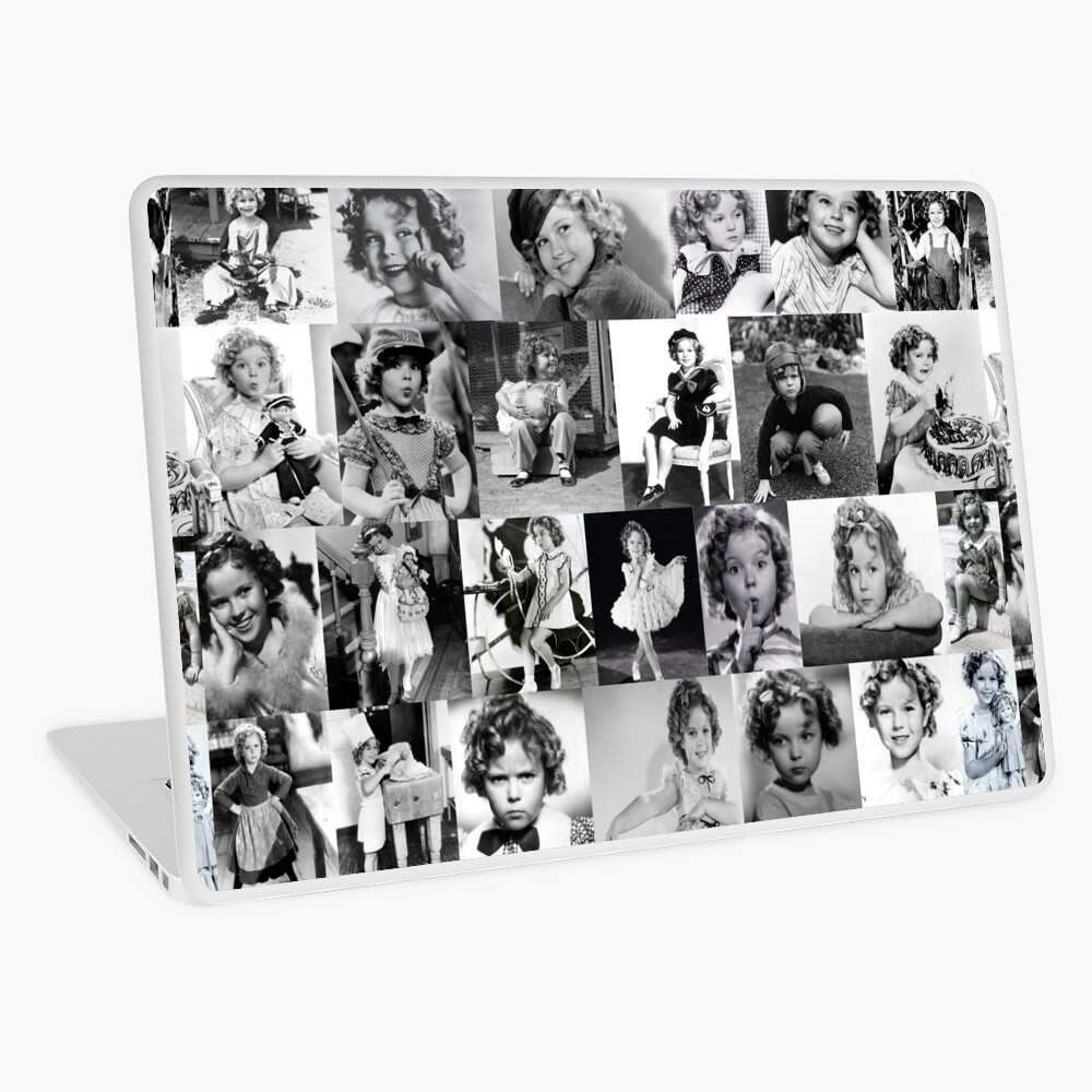 Shirley Temple Collage Laptop Skin
