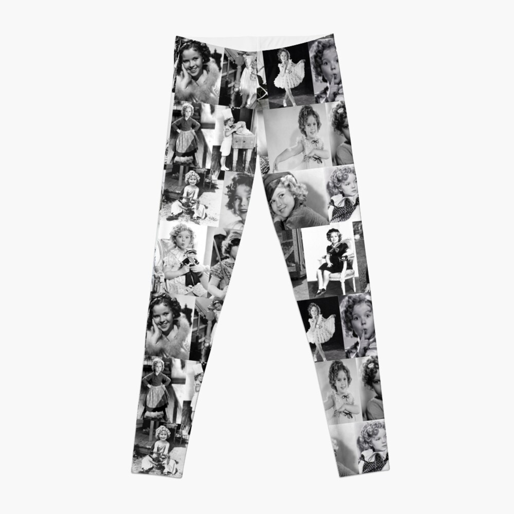 Shirley Temple Collage Leggings