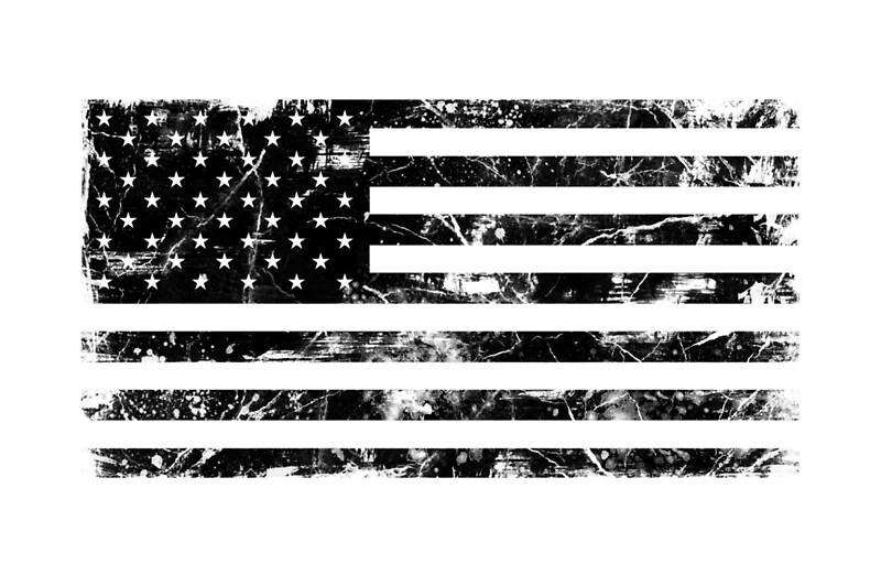Quot American Flag Distressed Black Quot Laptop Skins By