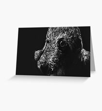 Bedlington Terrier Portrait  Greeting Card
