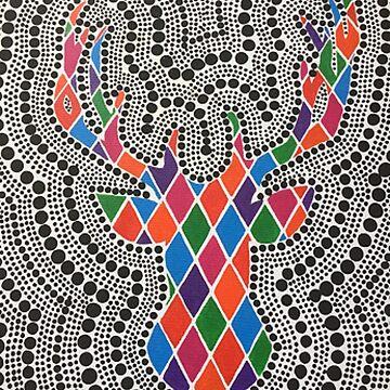 Diamond printed Deer by dinelson