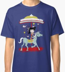 Carousel colorful whimsical magic horse ride doll tshirt Classic T-Shirt